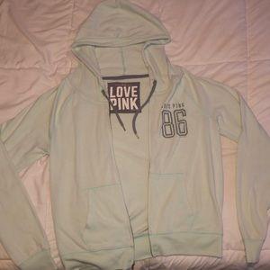 Mint green original Pink zip up hoodie